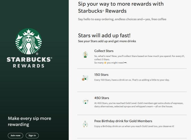 Il programma fedeltà di Starbucks